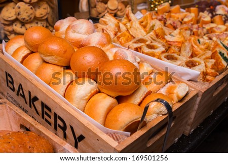 Bakery at the buffet line.  - stock photo
