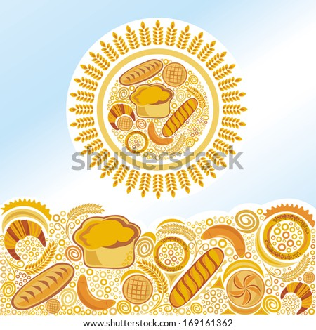 Bakery bread illustration
