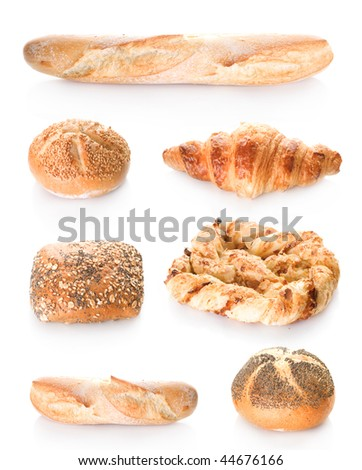 Bakery Bread Set - stock photo