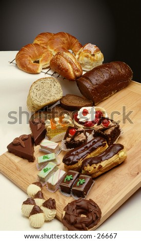 Bakery goods Deli type foods - stock photo