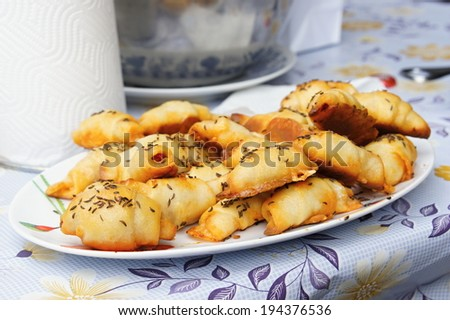 Bakery goods with caraway - stock photo
