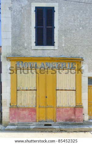 bakery in La Celle, Centre, France - stock photo