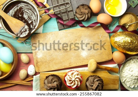 Baking background for easter  - stock photo
