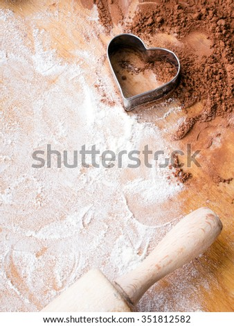 baking background:  preparing cookies - stock photo