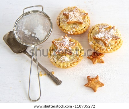 Baking Christmas Mince Pies - stock photo