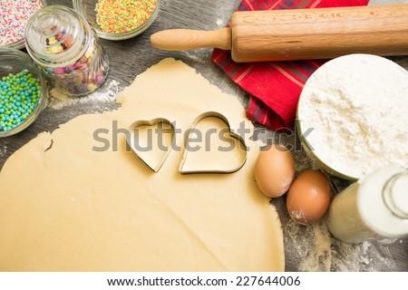 Baking cookies is fun! - stock photo