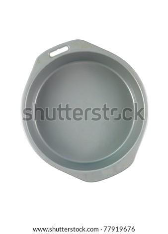 Baking items isolated against a white background