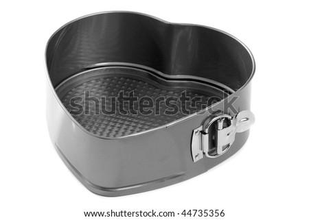 Baking tin, isolated on white background - stock photo