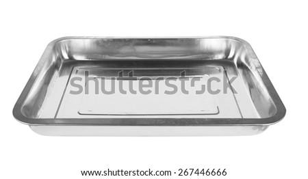 baking tray isolated on a white background - stock photo