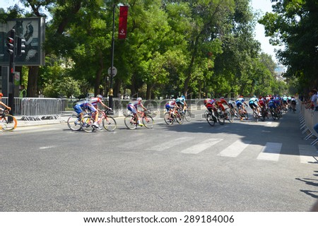 BAKU, AZERBAIJAN, June 21 2015. Cycling race in Baku, the first European games