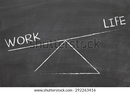 balance between work and life - stock photo