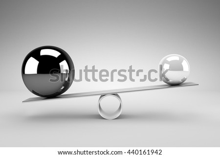 Balance concept - 3D rendering