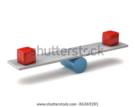 Balance concept on white background - stock photo