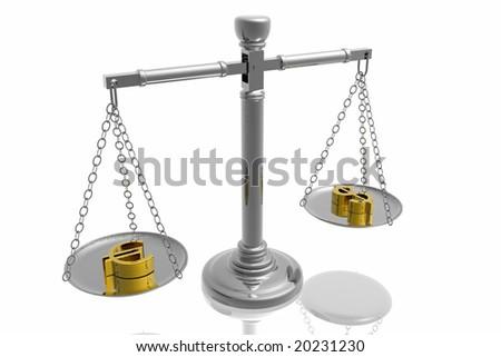 Balance money - stock photo