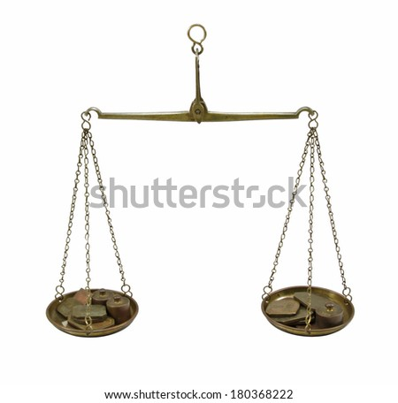 balance scale. - stock photo