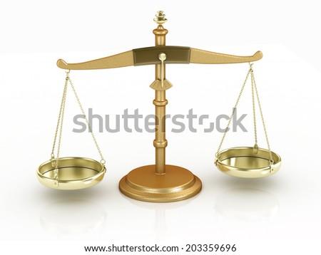 balance scale isolated illustration - stock photo