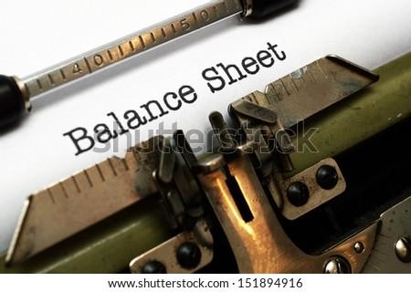 Balance sheet - stock photo