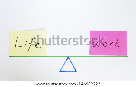Balance work and life concept of equilibrium and lifestyle - stock photo