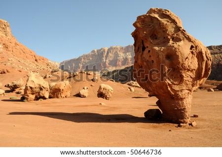 Balanced Rock - Vermilion Cliffs National Monument - stock photo
