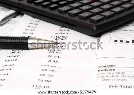 Balancing checkbook - stock photo