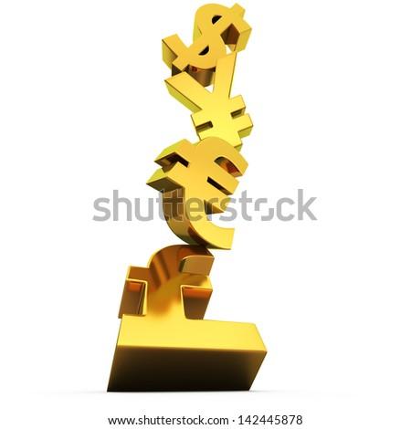 Balancing Symbols World Currencies Stock Illustration 142445878