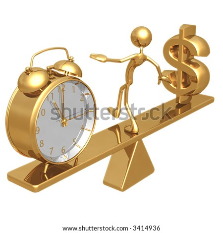 Balancing Time And Dollar - stock photo