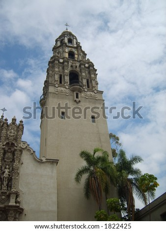 Balboa Park Bell Tower - stock photo
