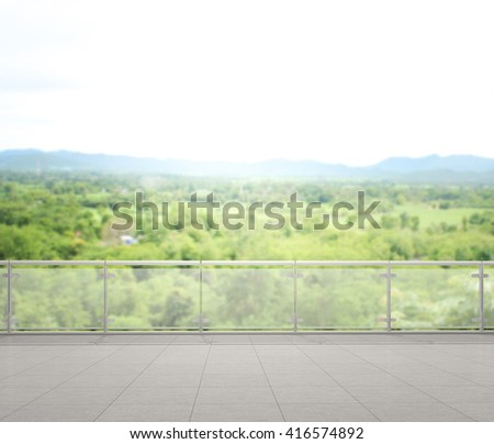 Balcony terrace blur nature background stock photo for Terrace nature