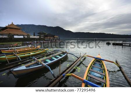 Bali Bratan lake - stock photo
