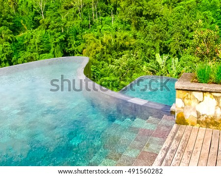Hanging garden stock images royalty free images vectors shutterstock for Ubud hanging gardens swimming pool price