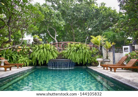 Bali resort - stock photo