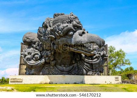 BALI - 28 SEP: A Sculpture Garuda Wisnu Kencana Cultural Park in Bali on 28 September 2016