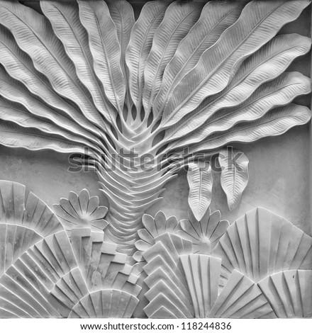 Bali style wall decoration - stock photo