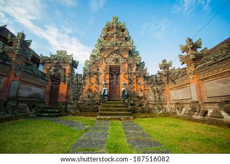 bali temple - stock photo