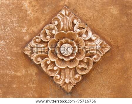 Balinese Floral Art - stock photo