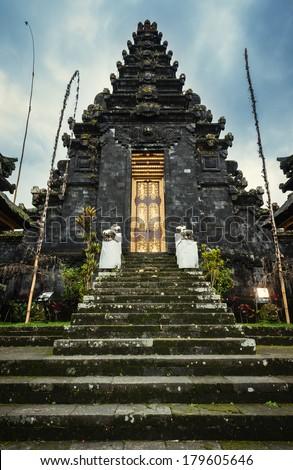 Balinese hindu temple in Mother Temple of Besakih, Bali, Indonesia - stock photo
