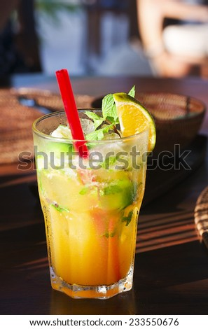 Balinese mint cocktail - stock photo