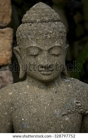 Balinese sculpture - stock photo