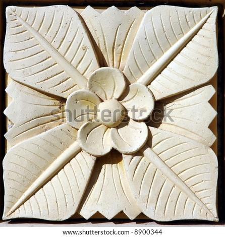 Balinese stone craft art design - stock photo