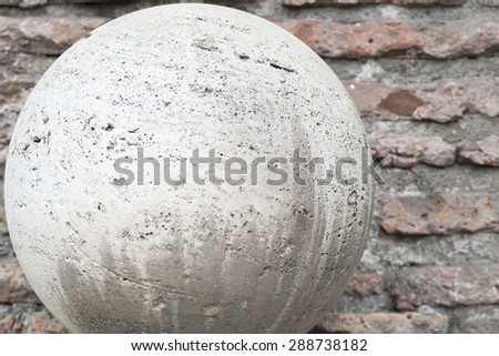 ball ancient marble - stock photo