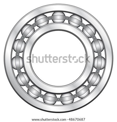 Ball bearing for various designs - stock photo