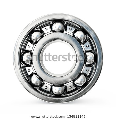 Ball bearing isolated on a white background