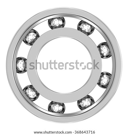 Ball Bearing isolated on a white background. Mechanical component. Part of a series.