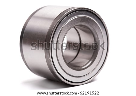 ball bearing isolated on white background - stock photo