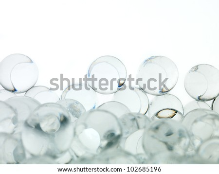 ball beautiful transparent white background - stock photo