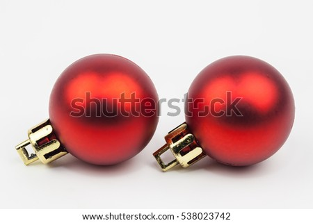 Ball christmas ornament decoration isolate on white