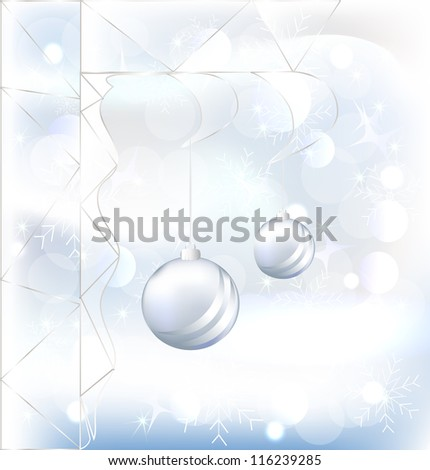 Ball christmas with glass, Raster version