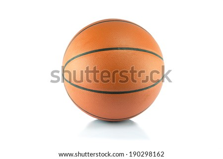 Ball for game in basketball, basket ball - stock photo