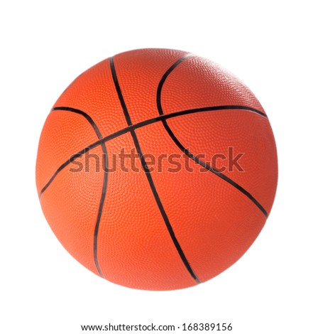 Ball for game in basketball of orange  isolated on white background  - stock photo