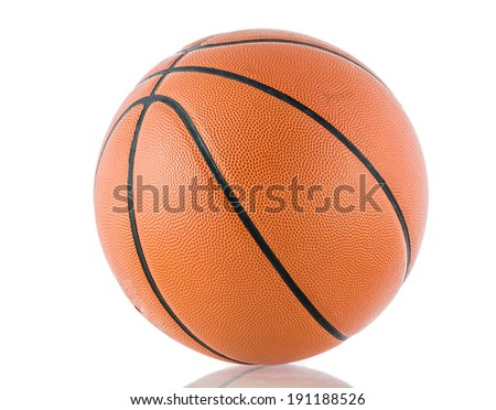 Ball for the game in basketball isolate on over white background